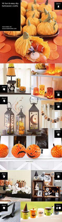 Pinterest Crafts Halloween   Halloween crafts / featured on discoverpaper.com   Halloween