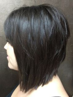 I just got a hairstyle similar to this on Wednesday and I absolutely love it:)   Inverted textured bob with a full bang. A classic.