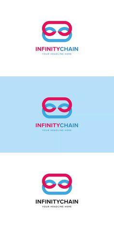 Infinity Chain Logo Template AI, EPS