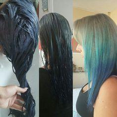 Blue hair ombre colour dynamics summer trend 2016 mermaid hair