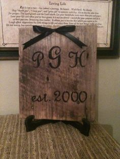 Initials on barnwood