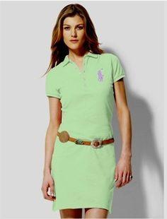 Women\u0026#39;s Ralph Lauren \u0026middot; Big Pony Polo Dress Summer Lime $50.29