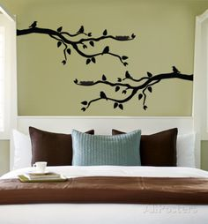 Black Branch With Birds Wall Decal at AllPosters.com. Just one.