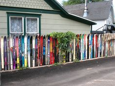 ski fence by Vilseskogen, via Flickr.  Idaho Springs, Colorado
