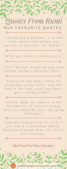 My  Favorite Rumi Quotes  Rumi Quotes Wisdom And Poem