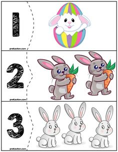 Easter Bunny Quantity Puzzles is part of Easter math - Free Educational Materials For Homeschooling Or The Classroom! Easter Puzzles, Easter Activities For Kids, Autism Activities, Number Games Preschool, Preschool Activities, Flashcards For Kids, Tot School, Teaching Kids, Easter Bunny