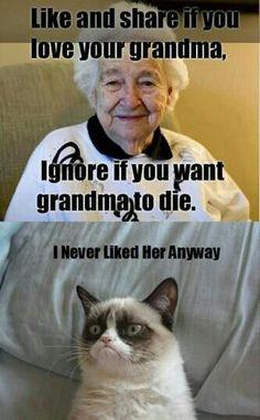 Poor grandma... so dark