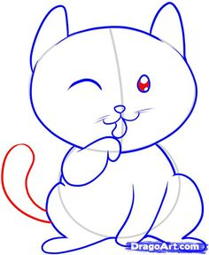 Step by step how to draw a cat