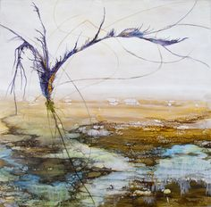 Encaustic painting by Alicia Tormey