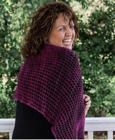 This beginner friendly lace wrap free knitting pattern. is a great first step into lace as well as a wonderfully meditative pattern for experienced knitters. Lace Knitting, Knitting Patterns, Crochet Patterns, Lace Wrap, Single Crochet Stitch, Learn How To Knit, Stockinette, Garter Stitch, Crochet Stitches