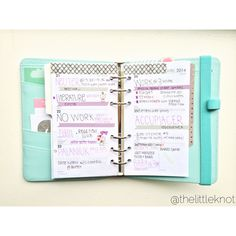 Filofax weekly decoration page, simple!