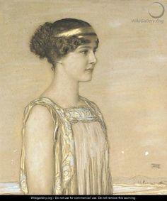 Tochter Mary als Griechin by Franz von Stuck