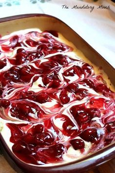 Cherry Cheesecake Surprise Layered Dessert I got this recipe years ago from a friend of mine. I remember thinking that it looked so complicated and tasted so decadent. I was ver. 13 Desserts, Cherry Desserts, Layered Desserts, Cherry Recipes, Dessert Dips, Pudding Desserts, Cherry Delight Dessert, Cheese Dessert, Cherry Cheese Cake Recipes