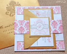 Designer Damask Wedding Invitation Suite with by WhimsyBDesigns, $4.99