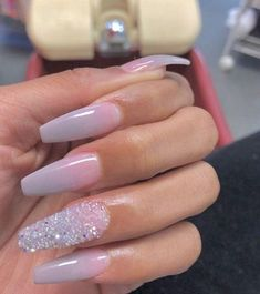 Nails ombre Shared by ThatGirlCee. Find images and videos about nails, ombre and rhinestone . Shared by ThatGirlCee. Find images and videos about nails, ombre and rhinestone on We Heart It - the app to get lost in what you love. Aycrlic Nails, Dope Nails, Prom Nails, Nails On Fleek, Cute Acrylic Nails, Acrylic Nail Designs, Acrylic Art, Gorgeous Nails, Pretty Nails