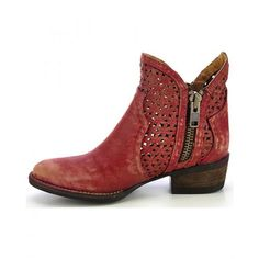 Circle G Ladies Cowboy Boot Red Shorty