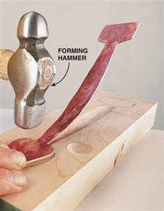Hammer Your Own Copper Hardware - Woodworking Projects - American Woodworker Cool Woodworking Projects, Metal Projects, Popular Woodworking, Metal Crafts, Diy Projects, Blacksmith Projects, Metal Working Tools, Forging Metal, Metal Shop