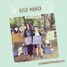 ECO HERO OF THE WEEK! @plasticfreebyron is a community collaborative project to encourage refusing purchasing or accumulating plastic in daily lives.  What did you say 'no' to today to reduce your plastic waste for this young generation?#ecohero