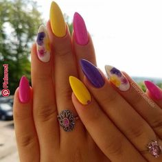 Nail Designs Trendiest Nail Art Ideas of the year you need to have a look . - Nail Designs Trendiest Nail Art Ideas of the year you need to have a look at now - Cute Acrylic Nails, Acrylic Nail Designs, Nail Art Designs, Bright Nail Designs, Latest Nail Art, Trendy Nail Art, Spring Nail Art, Nail Designs Spring, Cute Spring Nails