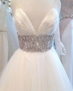 Lazaro dress Style 3600 in Ivory
