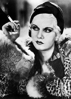 #1930sfashion Jean Harlow looking particularly vampish in Iron Man (1931).  harlow-jean:  Jean Harlow , Iron Man (1931)