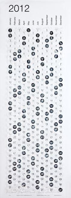 """Kalendarz """"bubble calendar""""  projekt Stephena Turbeka."""