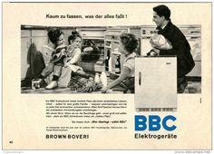 Original-Werbung/Inserat/ Anzeige 1960 - BBC ELEKTROGERÄTE ca. 140 x 210 mm
