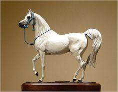 *Morafic, bronze Arabian stallion