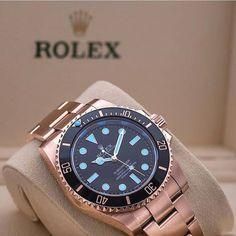 Everose Rolex Submariner shot by @loevhagen by dailywatch