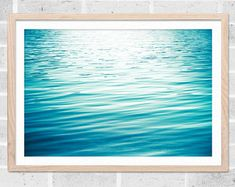 ABSTRACT PHOTOGRAPHY / WATER RIPPLES / NAUTICAL DECOR  A beautiful serene and calming abstract photograph of water gently rippling.  Title: Wash Your Cares Away Size: Please choose a size from the drop down at the top right. The first three photos show how the 8x10 inch size will crop the print. The final picture shows a large scale version of the print; scroll down for purchase links for larger sizes.  MORE INFO The listing is for the print which is sold unmatted and unframed. My p...