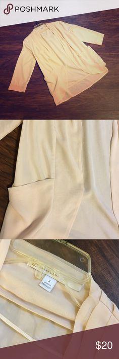 Chiffon LC Cardigan Cream chiffon LC cardigan in EUC. No pulls, snags, or stains. LC Lauren Conrad Tops Blouses