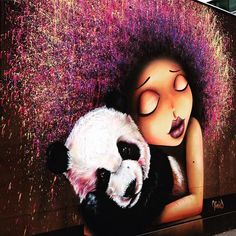 Street art ! 😁👍🏻🐼#streetart #art  #art #paris #france #graffiti #graff #instagraffiti #instagraff #urbanart #wallart #artist #urbanart #parisarturbain #parisart #iloveparis #paris13 #galerieitinerrance #cheveux #affro #panda #panda🐼 #hair