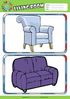 30+ Things in the living room worksheet info