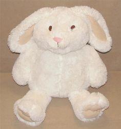 "Animal Adventure Large White Tan Bunny Rabbit Plush Stuffed 17"" Toy 2012 Target #AnimalAdventure"