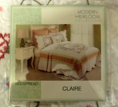 Modern Heirloom Collection Claire Queen Bedspread Plus 2 Euro Shams White New  #PekingHandicraftInc #Traditional