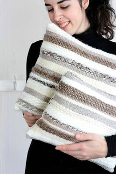 Woven Pillows Cashmere Handspun Woven Pillows Cozy Pillows