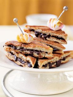 Fill ciabatta with nut butter and the best eating chocolate you can find, and grill until it melts into a swoon-inducing balance of crunchy and smooth. Heighten the flavors with a dash of Maldon salt, then crown the dreamy concoction with a toasted marshmallow.  Recipe:  Chocolate Hazelnut Panini   - CountryLiving.com