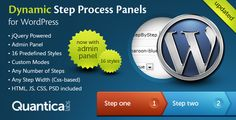 Dynamic Step Process Panels for WordPress is a lightweight plugin. With it you can present data in the form of any number of steps or tabs.