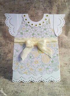Waving My Wand: BABY GIRL SHOWER DRESS CARD