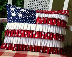 Great ruffled flag pillow.