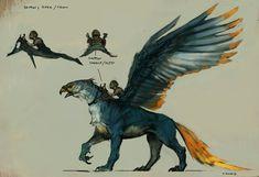 Four legged dragon by Vance Kovacs - I like the size-comparison