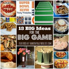 13 BIG Ideas for the BIG Game - football food, DIY and printables!!