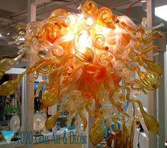 Glass Art Nova Chandelier