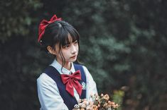 School Uniform Girls, High School Girls, School Uniforms, Anatomy Poses, Ulzzang Girl, Sailor Moon, Cute Girls, Kawaii, Cosplay