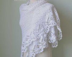 SPRING Crochet shawl pattern pdf by BernioliesDesigns on Etsy