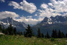 #prados, #Alpes, #montañas, #picos, #verano, #nubes, #bosque, #hierba, #flores, #cielo