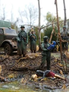 "1/35 diorama ""what do we have here"" by ""Brickstattoolife """