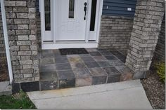 how to make a slate tile porch