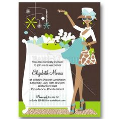 Safari Theme Baby Shower Invitations african american | baby invitations | Its Cachet, Baby!