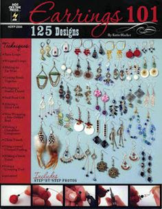 125 Designs for Earrings by @Katie Hacker - on www.katiehacker.com and coming soon to Michaels stores :) #DIY #craft #jewelry